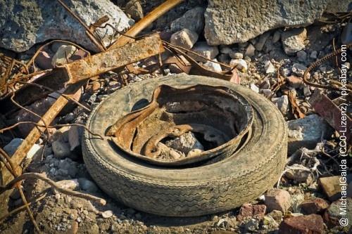 Alten Reifen