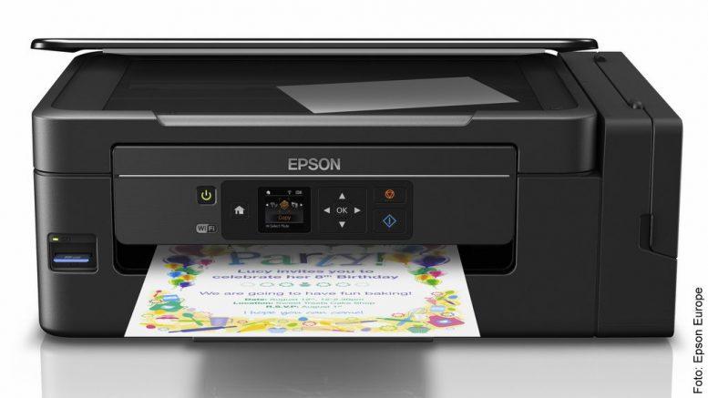 Inkjet-Drucker von Epson haben Druckerpatronen