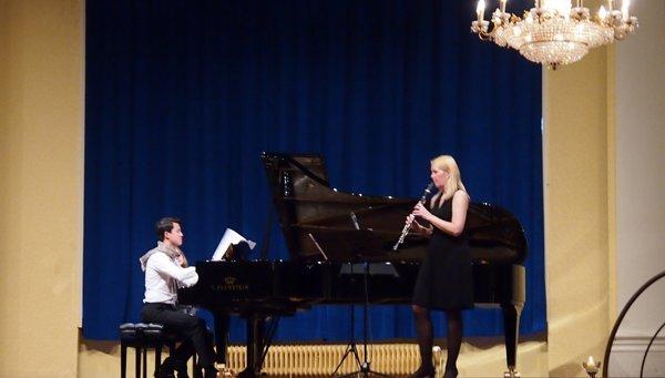 Haiou Zhang und Sabine Grofmeier machen klassische Musik in den Mozart Sälen