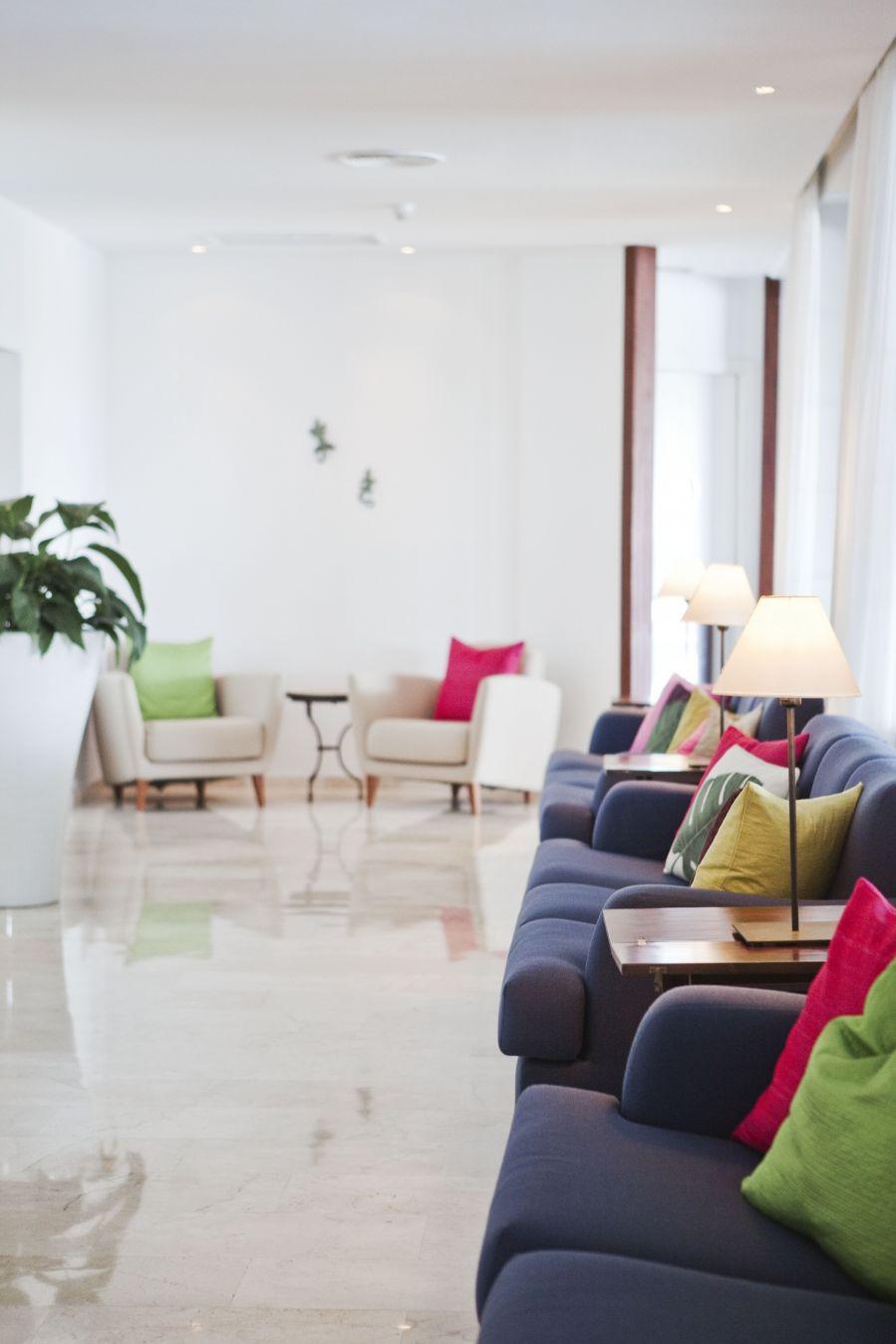 Blick auf die Hotel Lobby