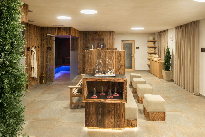 Blick in den Saunabereich des Hotels