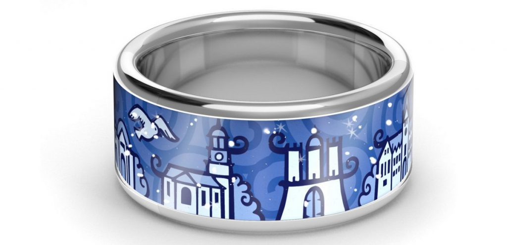 Hamburg Ring in Blau