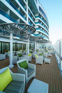 Lounge auf der AIDA zum entsapnnten Sitzen
