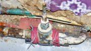 Geflickte alte Wasserleitung