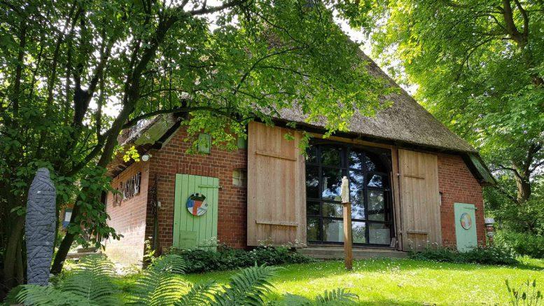 Das Künstlerhaus Zander - Sicht vom Garten