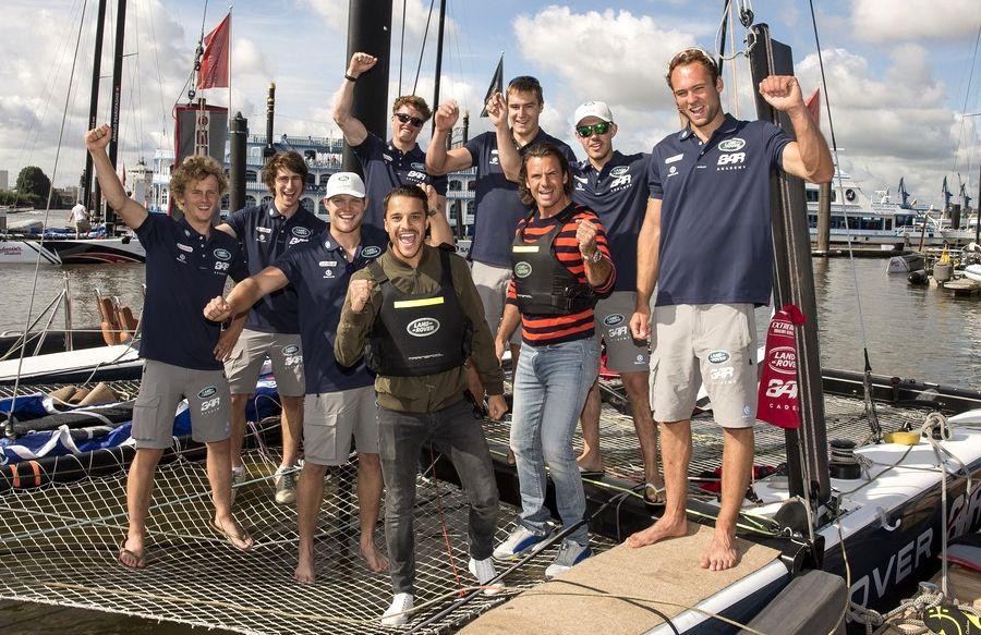 Das Segelteam von Land Rover
