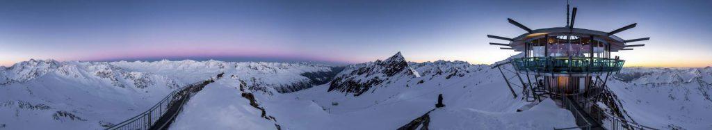 Hoch auf dem Berg mit Weitblick der Top Mountain Star