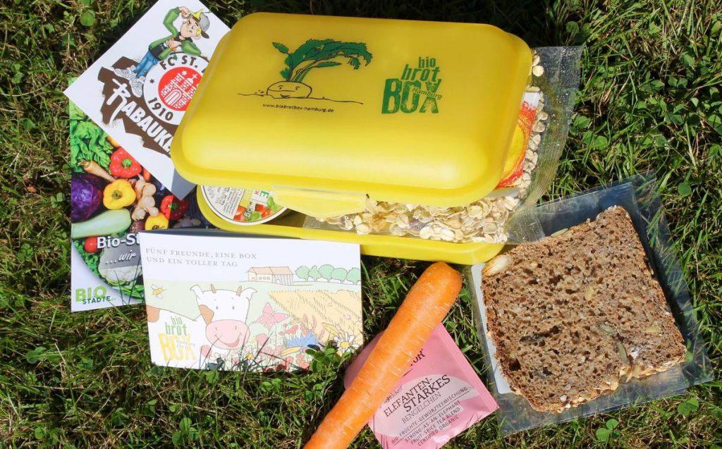 Die Bio-Brotbox mit Inhalt