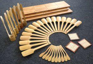 Küchenutensilien aus Bambus
