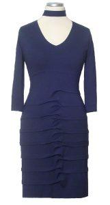 blaues Frauen-Kleid