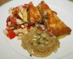 Sellerie-Tofu-Schnitzel mit Wallnuss-Fenchel-Salat