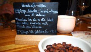Schokoladen-Wein-Menü