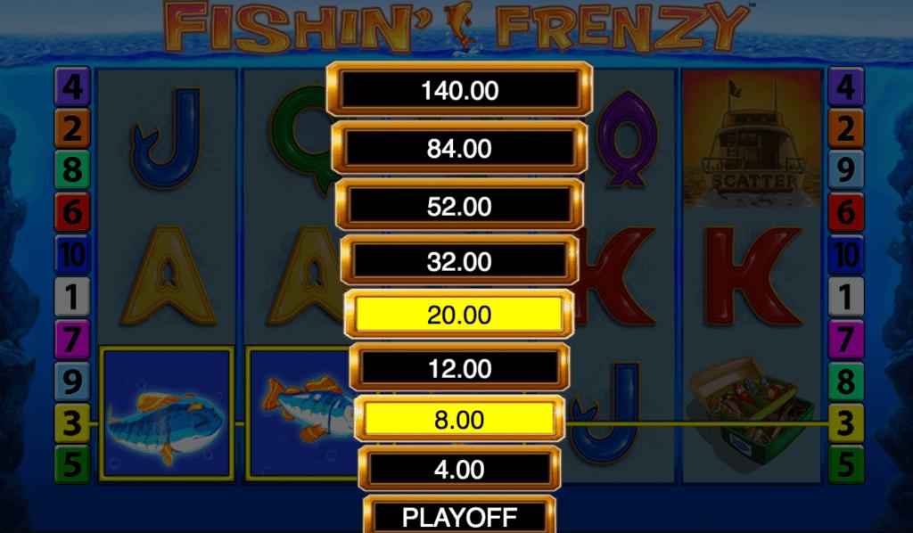 Online Casino Spiel Fishin Frenzy Screenshot