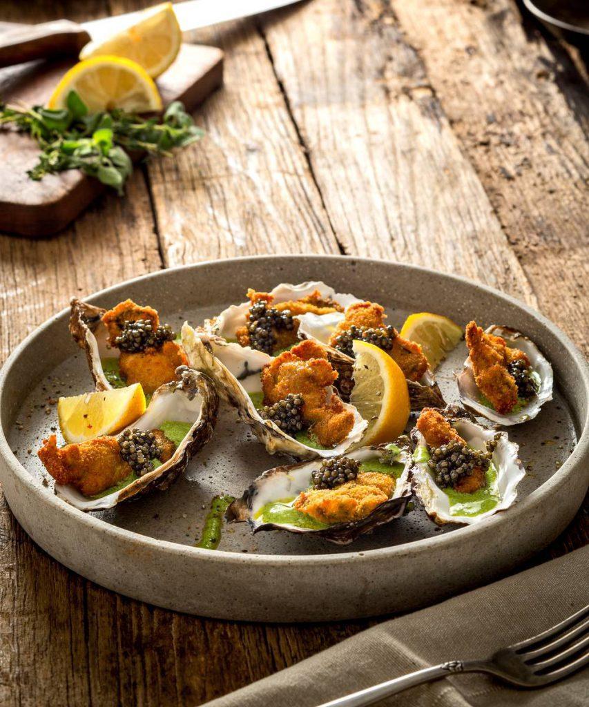 Kaviar mit Austern