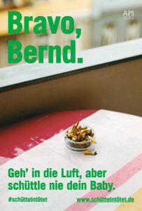 Plakat #schüttelntötet Motiv Bernd