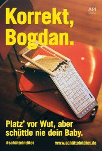 Plakat #schüttelntötet Motiv Bogdan