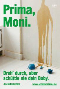 Plakat #schüttelntötet Motiv Moni