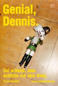 Plakat #schüttelntötet Motiv Dennis