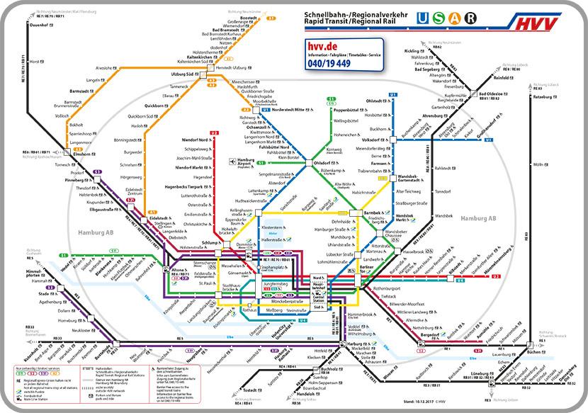 HVV Liniennetzplan - Mobil in Hamburg