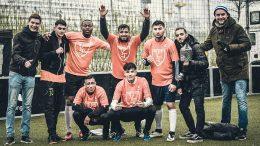 Straßenfußball-Turnier KIEZ CHAMPION am Hamburger Hafen