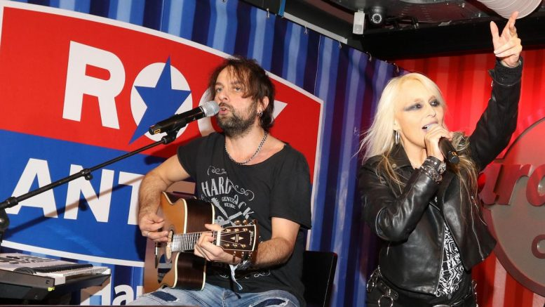 Doro Pesch singt auf der Rock Antenne Hamburg Kick Off Party