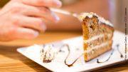 Torte mit Gabel