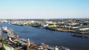 Hamburg Blick auf die Elbe