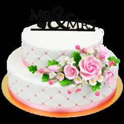 Torte mit zwei Etagen