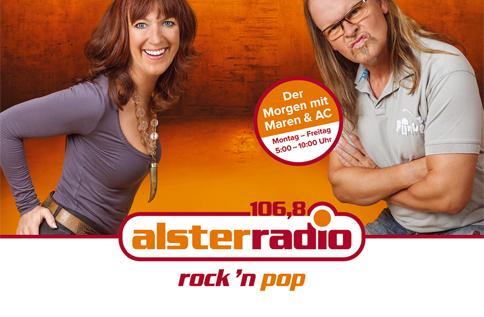 Maren und AC Alsterradio