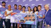 Promis beim Milka Oreo Sandwich House-Running Contest