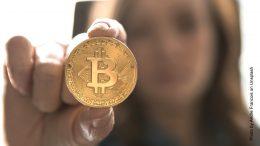 Eine Bitcoin Münze