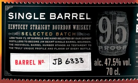 Jim Beam Single Barrel Etikett