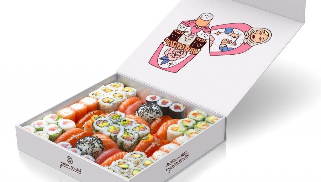 Moscow Box mit vielen Sushi