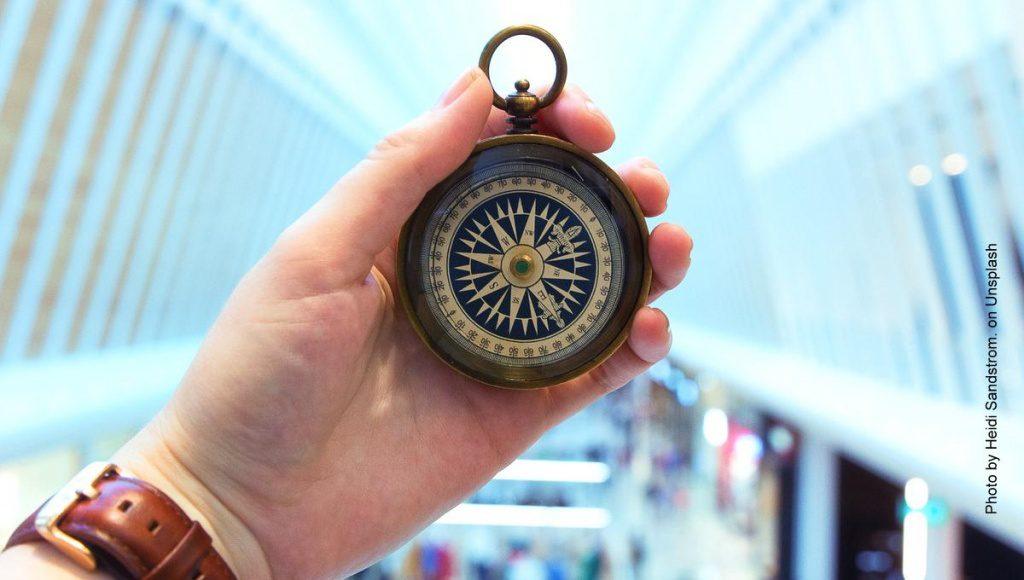 Kompass im Einkaufszentrum