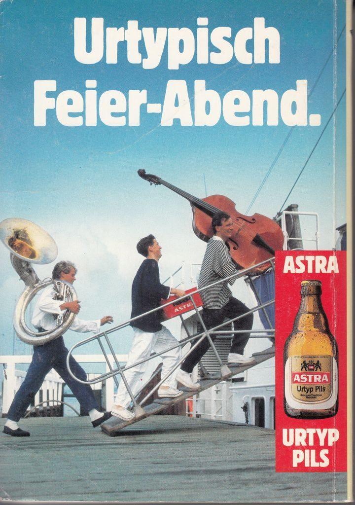 Historische Astra Anzeige aus dem Jahr 1987