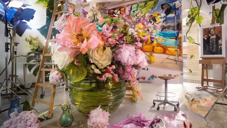 Bild und Installation Blumen Stilleben