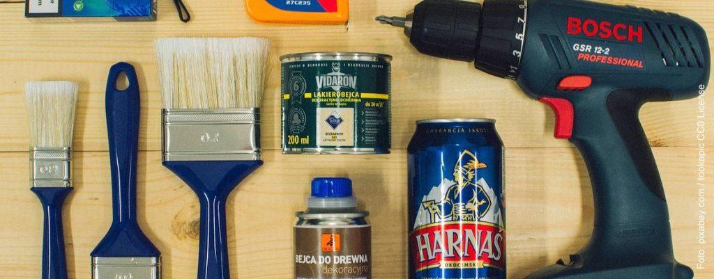 Werkzeug, Pinsel, Akkuschrauber