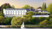 Hotel Louis C. Jacob - Außenansicht von der Elbe