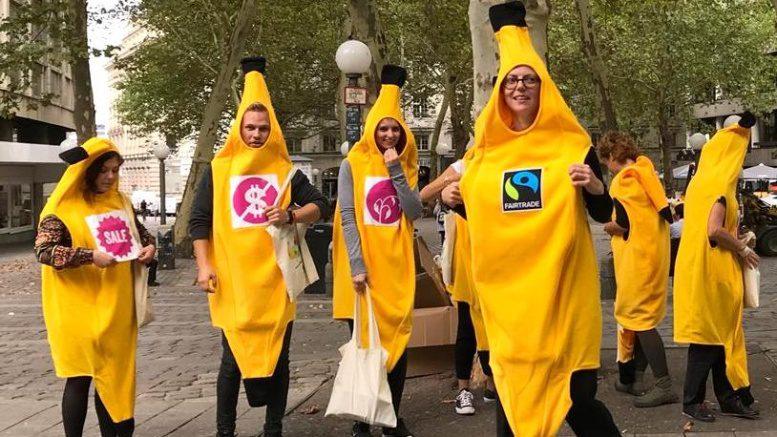 Unfaire Bananen in Hamburg