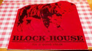 Die älteste Block House Speisekarte