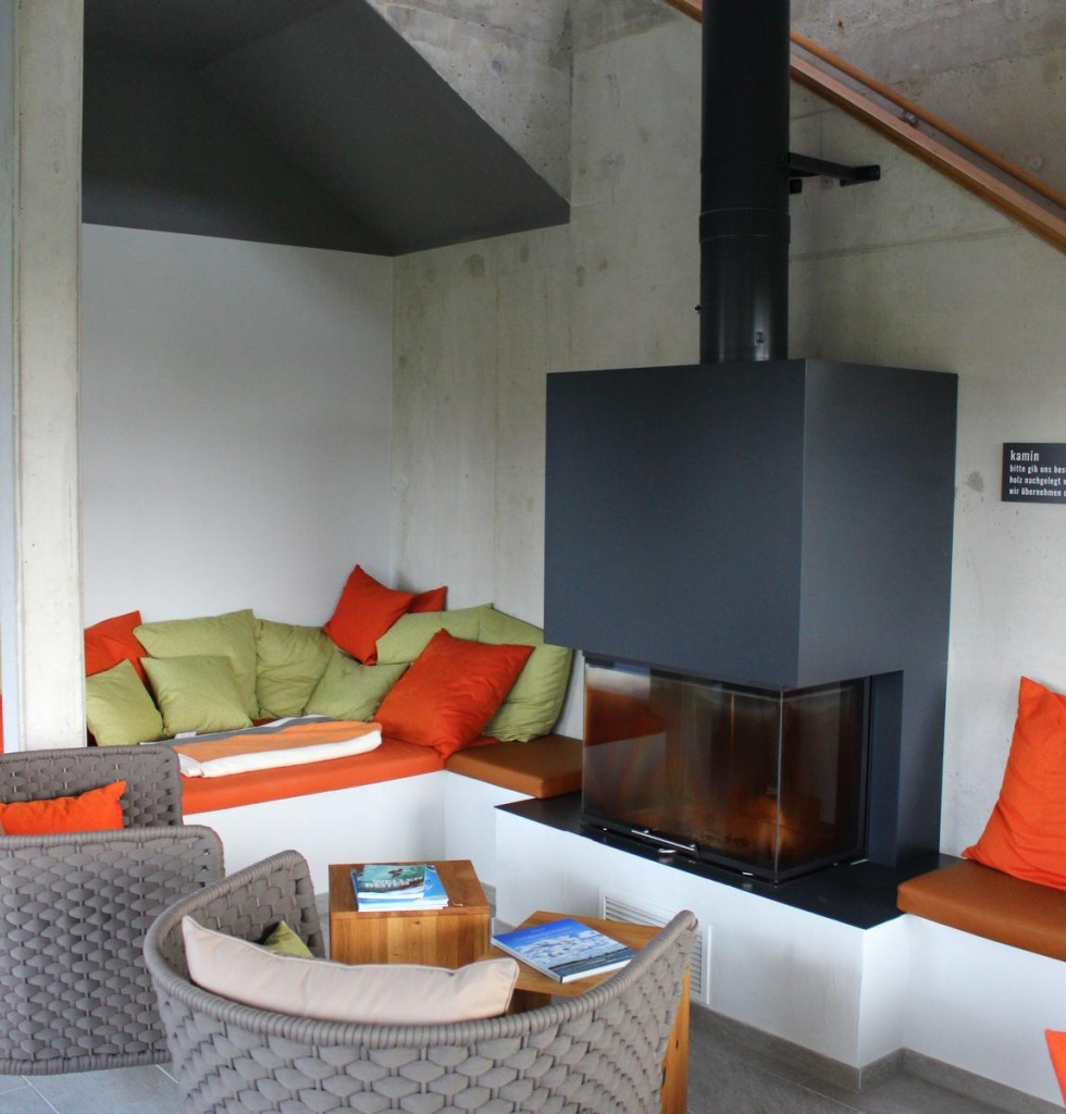 Im ARBEOREA HOtel , entspannen am Kamin