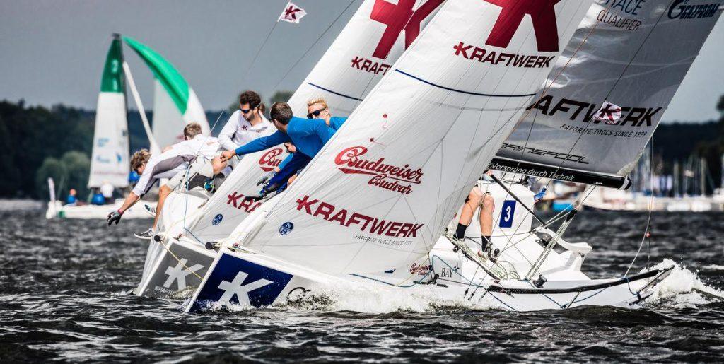 Segelboote der DDeutsche-Segel-Bundesliga bei der Regatta