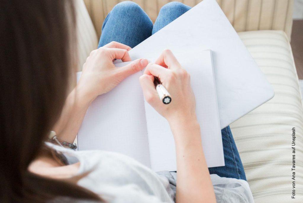 Notzien mit einem Montblanc Stift