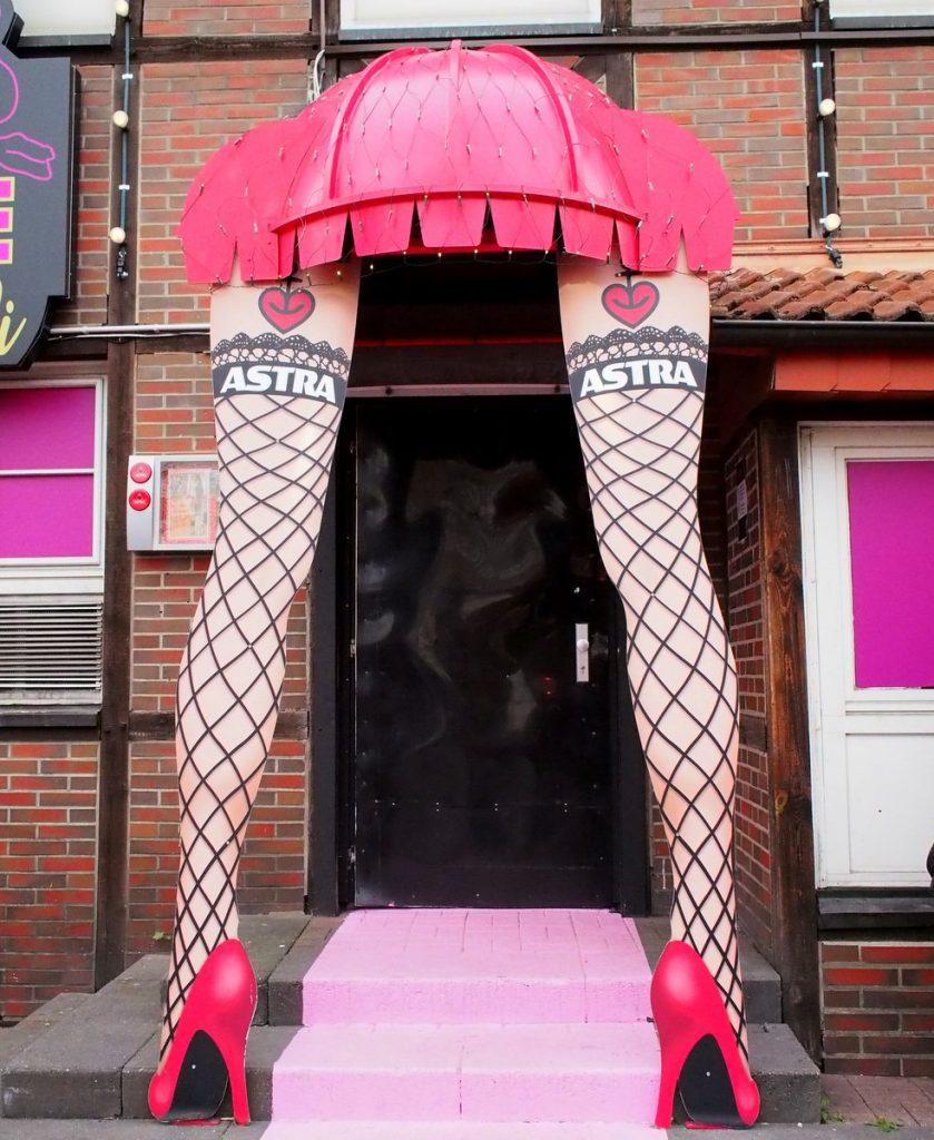 Erotischer Clubeingang auf St. Pauli