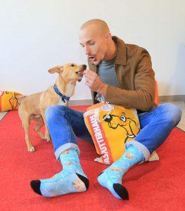 Oliver Tienken mit Peppi auf der Hamburger Hundemesse