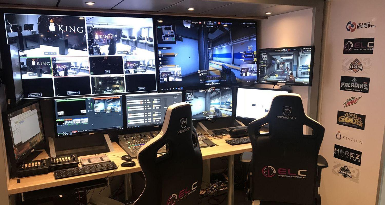 Ein Überwachungsraum für Esports