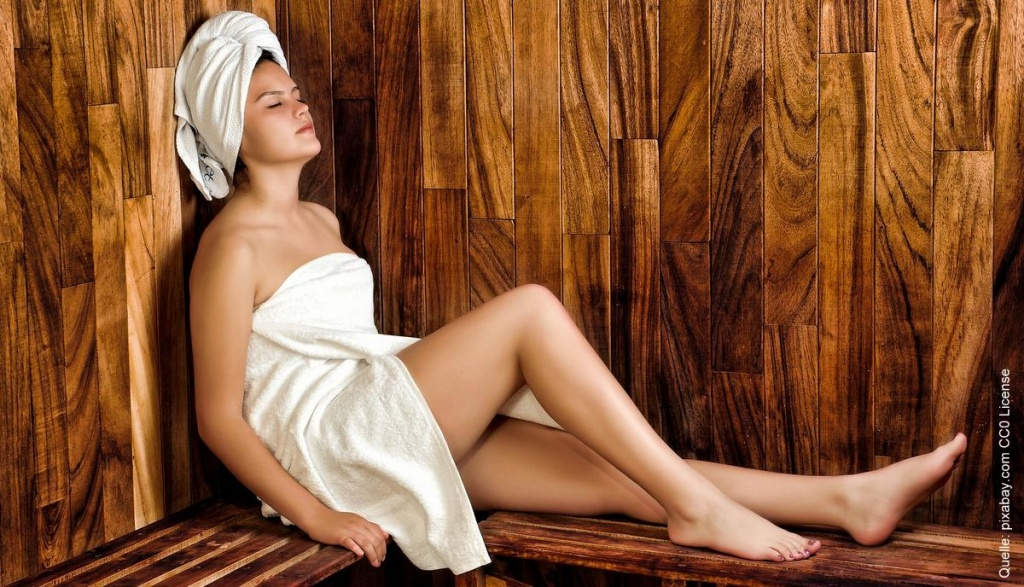 Chillen in der Sauna