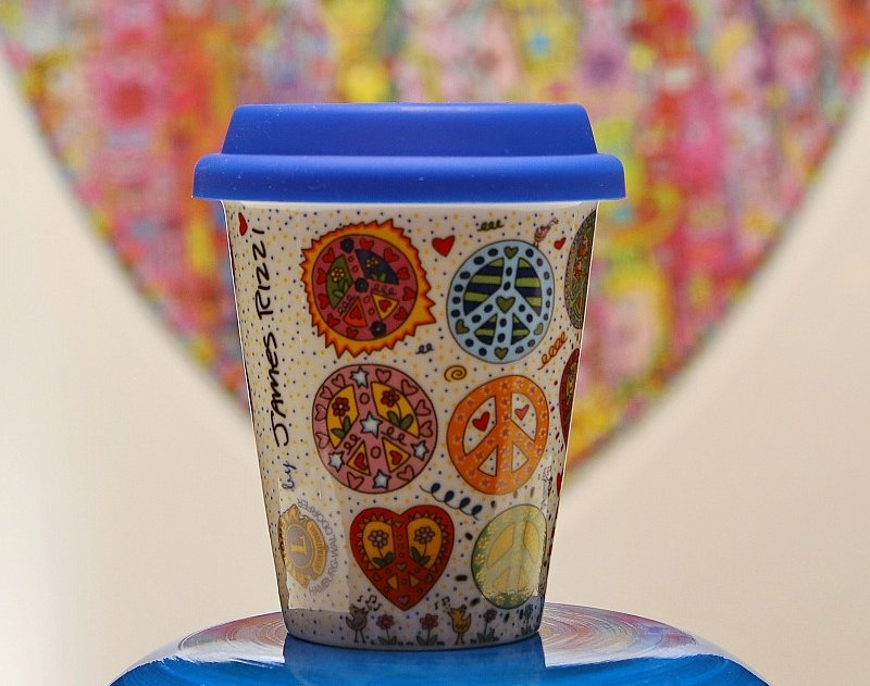 Coffee to go Becher - James Rizzi-Peace-Cup