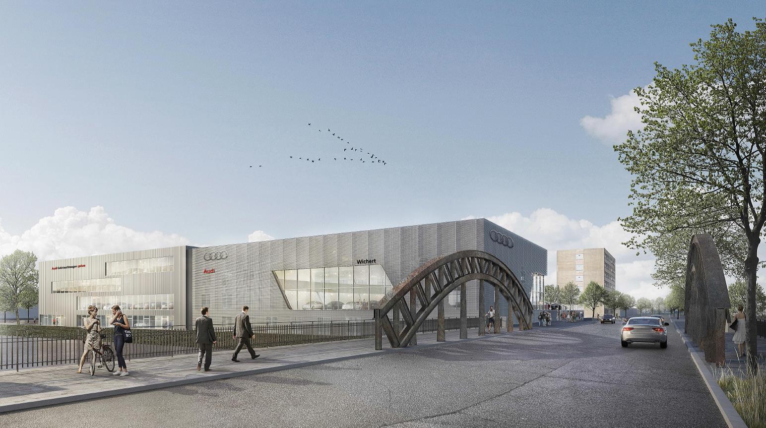 Der neue Audi terminal von Auto Wichert in Hamburg Hammerbrook