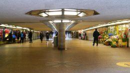Die Mönckeberg Passage eine Unterführung am Hamburger Hauptbahnhof